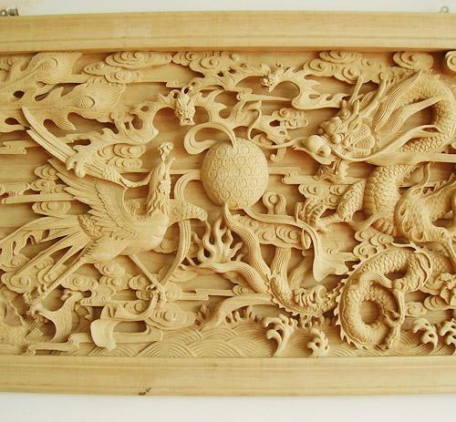 东阳木雕镜框图片