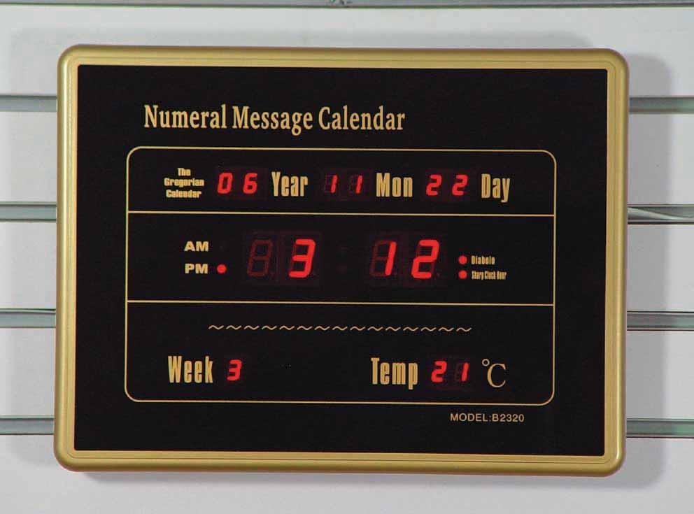 供应2320b型万年历,数码信息历,电子万年历,电子钟